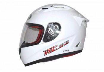 KYT Helm RC Seven Solid Full Face - White Full-face