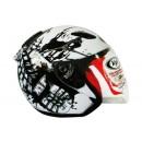 Kyt Dj Maru #10 White/Black Half-face 2