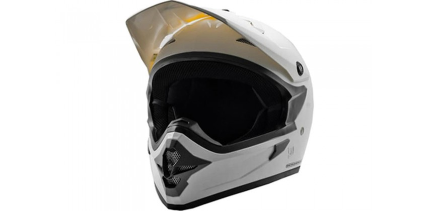 Cargloss MXC Met White  Helm Cross 0
