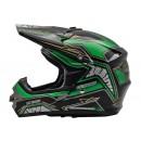 Cargloss MXC Motosport Green Met Deep Black  Helm Cross 3