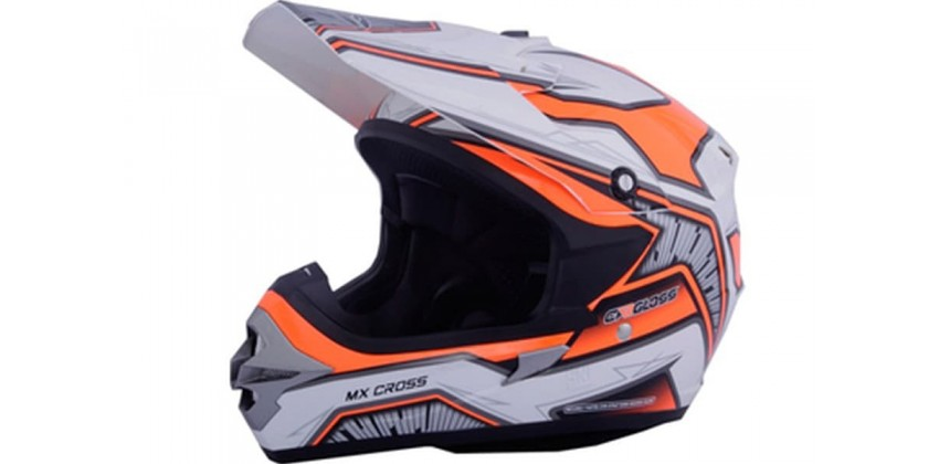 Cargloss MXC Motosport Orange SP White  Helm Cross 0