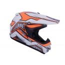 Cargloss MXC Motosport Orange SP White  Helm Cross 1
