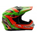 Cargloss MXC Orange Black FZ Green  Helm Cross 1