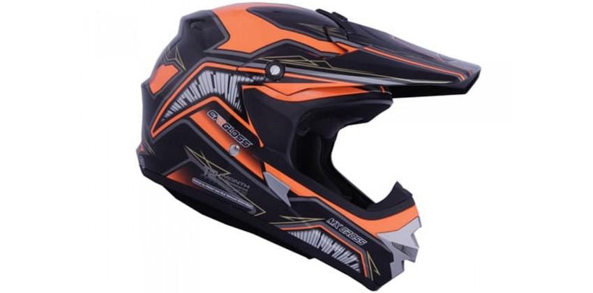 Cargloss MXC Orange Deep Black  Helm Cross 0