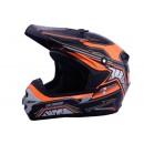 Cargloss MXC Orange Deep Black  Helm Cross 1