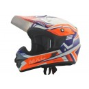 Cargloss MXC Pro Racing Orange SP White  Helm Cross 0