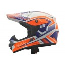 Cargloss MXC Pro Racing Orange SP White  Helm Cross 1