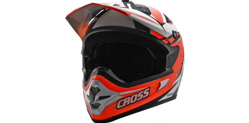 Cargloss MXC Supercross Orange Black Sp White  Helm Cross 0