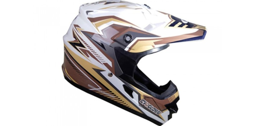 Cargloss MXC Supertrack Ice Brown SP White  Helm Cross 0