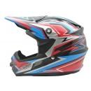 Cargloss MXC Supertrack Pink Blue Deep Black  Helm Cross 1