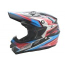 Cargloss MXC Supertrack Pink Blue Deep Black  Helm Cross 2