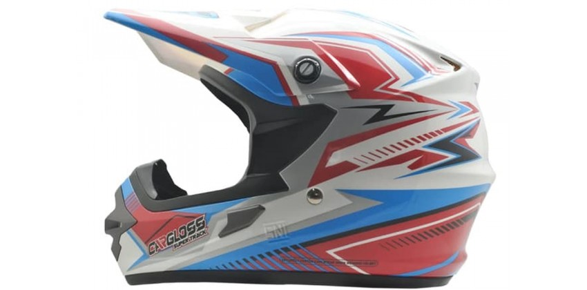 Cargloss MXC Supertrack Pink Blue SP White  Helm Cross 0