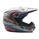 Cargloss MXC Supertrack Pink Blue SP White  Helm Cross 1