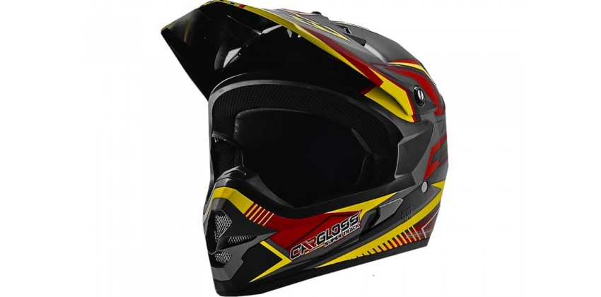 Cargloss MXC Supertrack Red Yellow Deep Black  Helm Cross 0