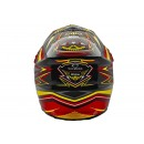 Cargloss MXC Supertrack Red Yellow Deep Black  Helm Cross 3