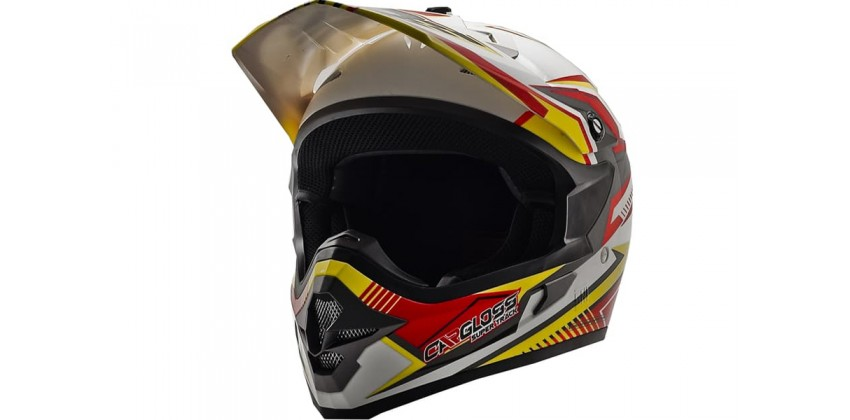 Cargloss MXC Supertrack Red Yellow Sp White  Helm Cross 0