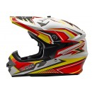 Cargloss MXC Supertrack Red Yellow Sp White  Helm Cross 2