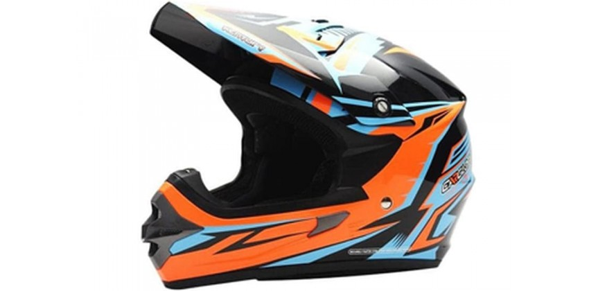 Cargloss MXC Xentury Orange Blue Deep Black  Helm Cross 0