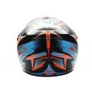 Cargloss MXC Xentury Orange Blue Deep Black  Helm Cross 2