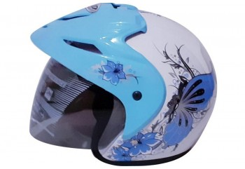 ZIP Matic Butterfly #1 White Blue  Helm Half-face