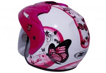 ZIP Matic Butterfly #2 White Pink  Helm Half-face
