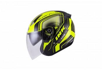 INK Metro 2 Super Fluo Edition Helm Half Face Oranye