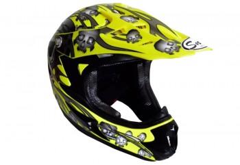 Snail Mx-309 Skull Kuning  Helm Full-face