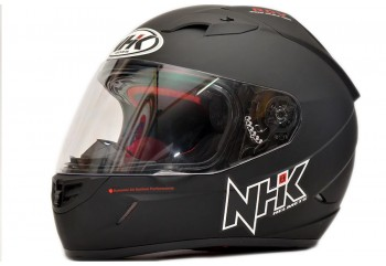NHK GP1000 Solid Full Face - Black Doff