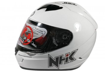 NHK GP1000 Solid Full Face - White