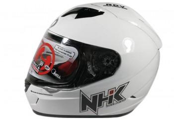 NHK GP1000 Solid - White Helm Full Face