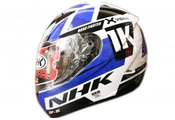 NHK GP1000 X vision Full Face White Blue