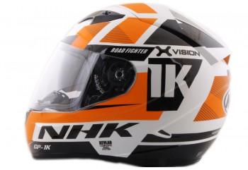 NHK GP1000 X vision Full Face White Orange