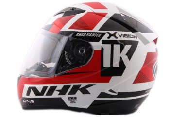 NHK GP1000 X vision Full Face White Red