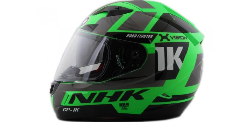 NHK GP1000 X vision SE Full Face Green Flo 0