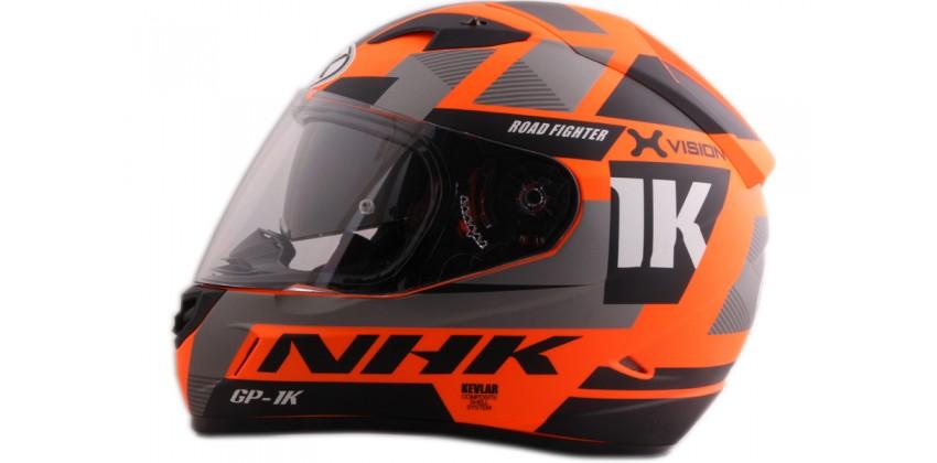 NHK GP1000 X vision SE Full Face Orange Flo 0