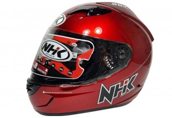 NHK GP1000 solid Full Face Red Maroon