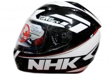 NHK GP 1000 Racing Instinct Full Face Black White