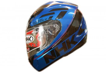 NHK GP 1000 Racing Instinct Full Face Blue Met Black