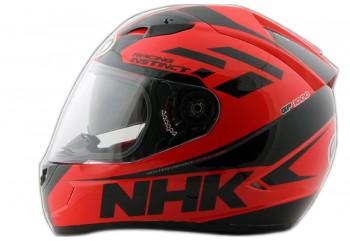 NHK GP 1000 Racing Instinct Full Face Red Black