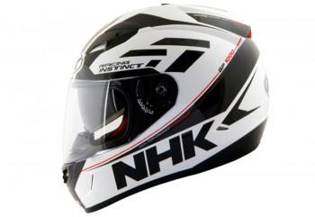 NHK GP 1000 Racing Instinct Full Face White Black