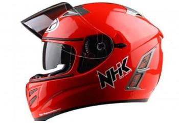 NHK Terminator 2V Solid - Red Helm Full Face