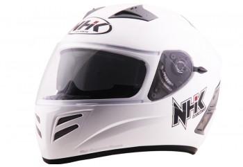 NHK Terminator 2V Solid - White Helm Full Face