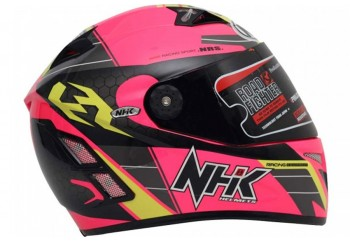 NHK Terminator Racing Navy Full Face Pink Flo