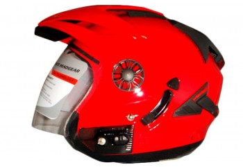 ORCA Helm Spider Half-face Red Ferari