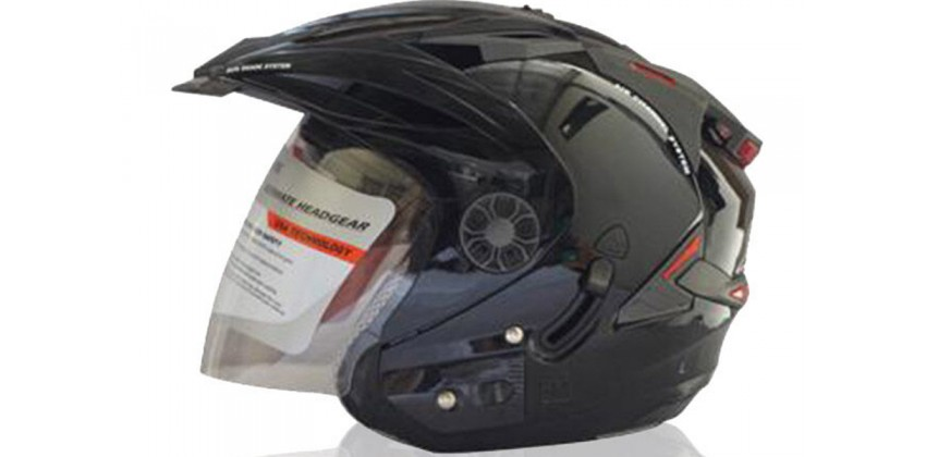 ORCA Helm Spider Half-face Solid Black 0