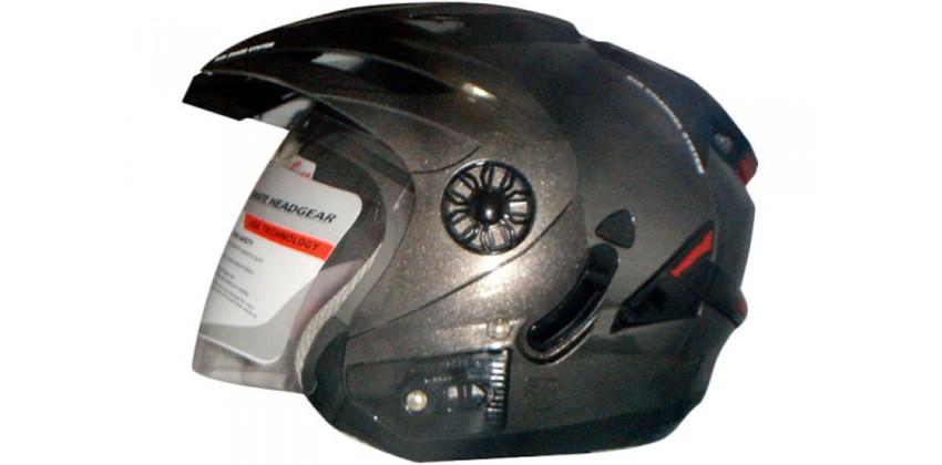 ORCA Helm Spider Half-face Solid Gun Metal 0