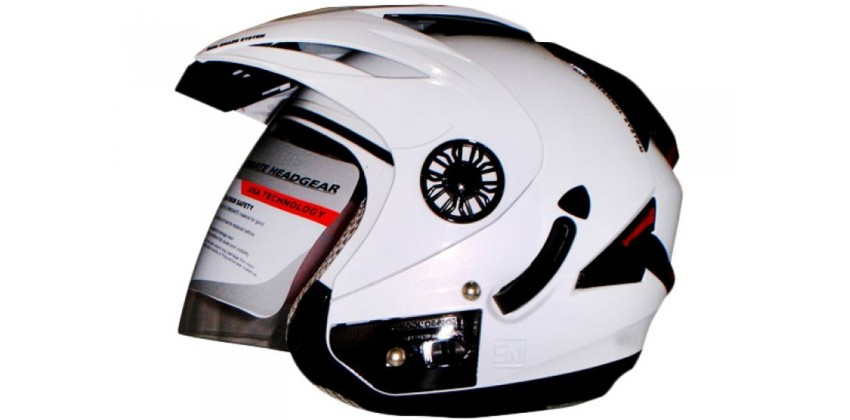 ORCA Helm Spider Half-face Solid White 0