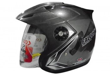 OXY Helm Falcon Half-face Solid Gun Metal