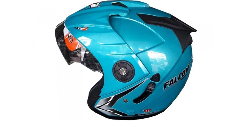 OXY Helm Falcon Half-face Solid Ice Blue 0