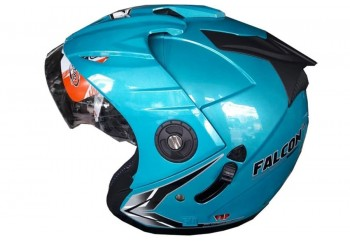 OXY Helm Falcon Half-face Solid Ice Blue